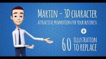 پروژه افترافکت تیزر تبلیغاتی با کاراکتر سه بعدی مارتین