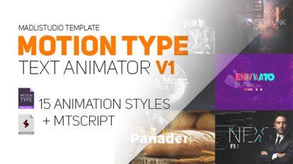 اسکریپت افترافکت انیمیشن متن Motion Type
