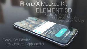 پروژه افترافکت مجموعه موکاپ Phone X