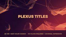 پروژه افترافکت نمایش عناوین Plexus Titles
