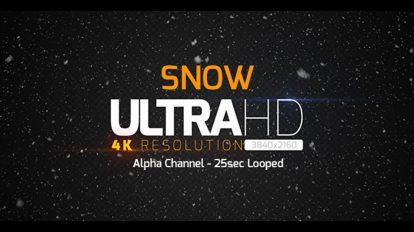 ویدیوی موشن گرافیک زمینه بارش برف