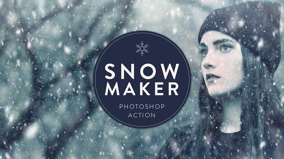 اکشن فتوشاپ ایجاد افکت بارش برف