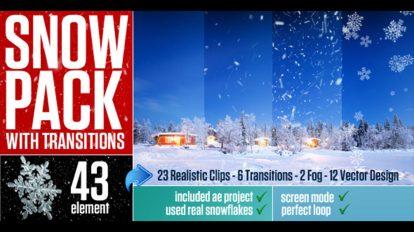 مجموعه ویدیوی موشن گرافیک بارش برف