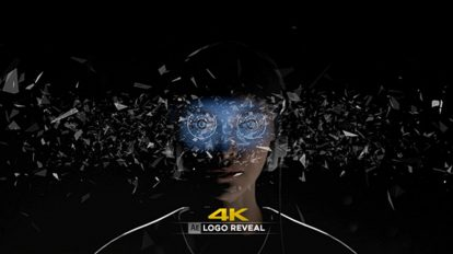 پروژه افترافکت نمایش لوگو واقعیت مجازی Virtual Reality 4K