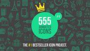 پروژه افترافکت مجموعه 555 انیمیشن آیکون فلت