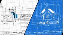 پروژه افترافکت نمایش لوگو Architect Logo