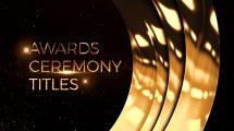 پروژه افترافکت نمایش عناوین مراسم جوایز