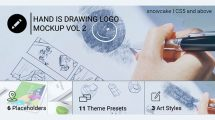پروژه افترافکت نمایش لوگو با ترسیم دستی