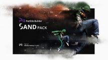 پروژه افترافکت مجموعه اجزای سازنده افکت ذرات غبار Sand Pack