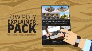 مجموعه مدل سه بعدی Low Poly Explainer برای سینما فوردی