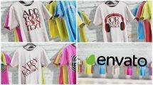پروژه افترافکت تیزر تبلیغاتی تیشرت T-Shirt Promo
