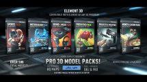 مجموعه مدل سه بعدی برای پلاگین Element 3D