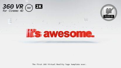 پروژه سینما فوردی نمایش لوگو واقعیت مجازی 360 درجه VR