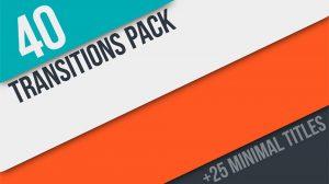 پروژه افترافکت مجموعه 40 ترانزیشن ویدیویی 4K