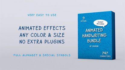 پروژه افترافکت باندل انیمیشن دستنویس Animated Handwriting Bundle