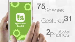 پروژه افترافکت ساخت تیزر تبلیغاتی اپلیکیشن App Promo Toolkit