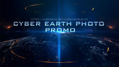 پروژه افترافکت اسلایدشو Cyber Earth Photo Promo