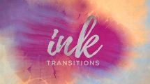 پروژه افترافکت ترانزیشن جوهری Ink Transitions