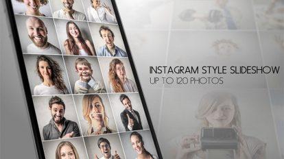 پروژه افترافکت اسلایدشو اینستاگرام Instagram Slideshow