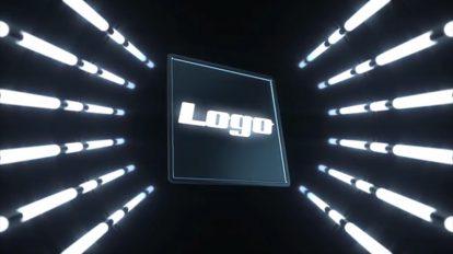پروژه افترافکت نمایش لوگو در تونل نور