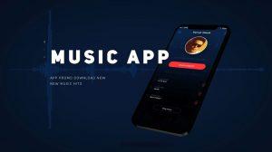 پروژه افترافکت تیزر تبلیغاتی اپلیکیشن موزیک