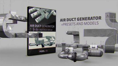افزونه سینما فوردی Air Duct Generator برای ساخت سیستم مجرای هوا