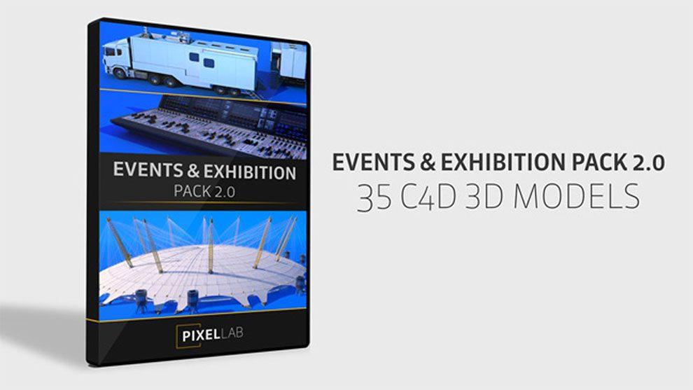 مجموعه مدل سه بعدی نمایشگاه و رویدادها برای سینما فوردی 2
