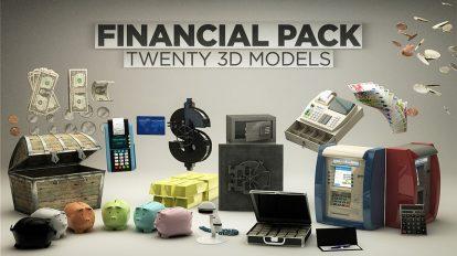 مجموعه مدل سه بعدی مالی برای سینما فوردی