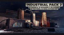 مجموعه مدل سه بعدی صنعتی برای سینما فوردی Industrial Pack 2