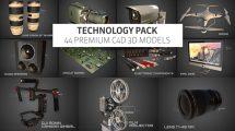 مجموعه مدل سه بعدی تکنولوژی برای سینما فوردی