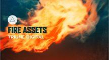 مجموعه 30 فوتیج ویدیویی آتش Triune Digital
