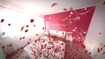پروژه افترافکت گل های ولنتاین