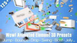 مجموعه پریست افترافکت دینامیک برای پلاگین Element 3D