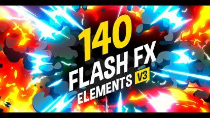 پروژه افترافکت 140 افکت کارتونی Flash FX