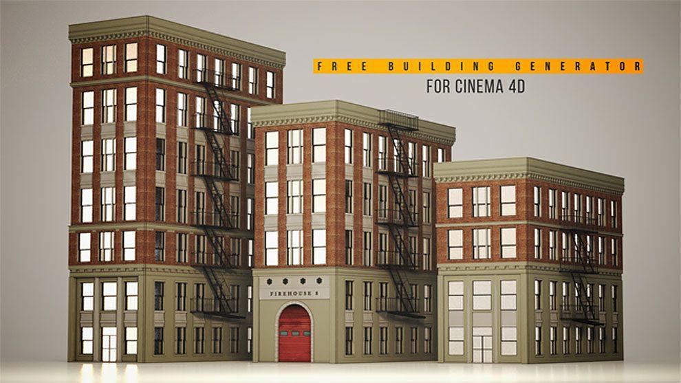 ریگ مدل سه بعدی ایجاد ساختمان برای سینما فوردی