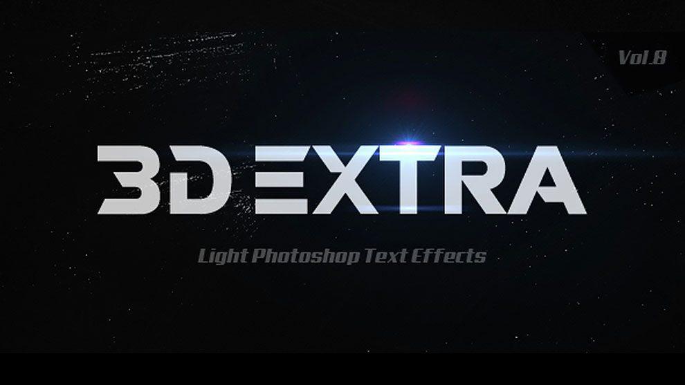 10 استایل فتوشاپ برای ایجاد افکت متن سه بعدی با نور