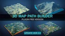 پروژه افترافکت ساخت نقشه سه بعدی 3D Map Path Builder