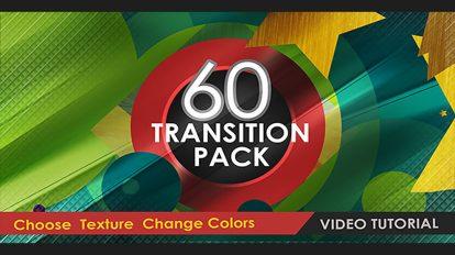 پروژه افترافکت مجموعه 60 ترانزیشن ویدیویی