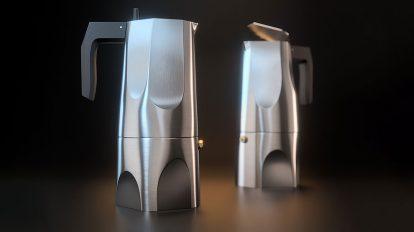 مدل سه بعدی قهوه ساز Alessi Ossidiana