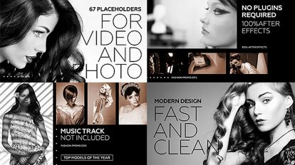 پروژه افترافکت اسلایدشو مد Black Fashion Promo
