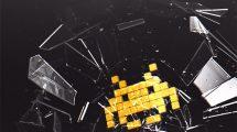 پروژه افترافکت نمایش لوگو با شکستن شیشه