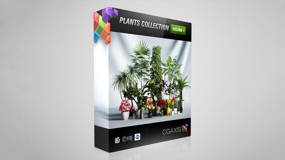 مجموعه مدل سه بعدی گیاهان CGAxis Models Volume 1 Plants
