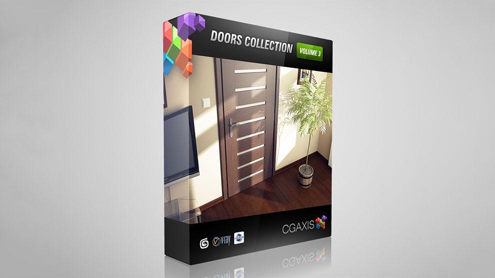 مجموعه مدل سه بعدی در CGAxis Models Volume 3 Doors