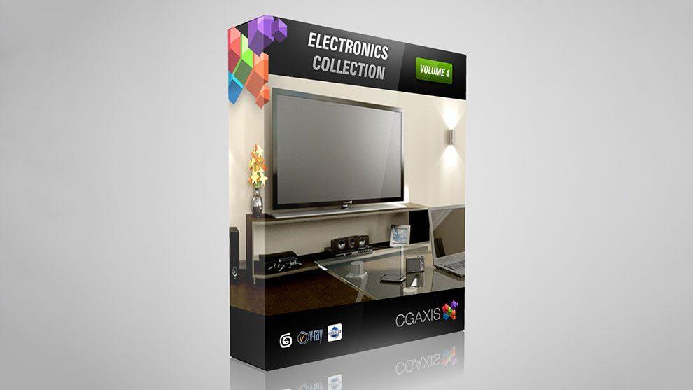 مجموعه مدل سه بعدی تجهیزات الکترونیکی CGAxis Models Volume 4 Electronics