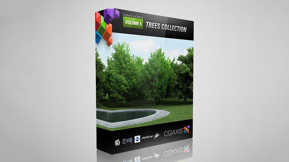 مجموعه مدل سه بعدی درخت CGAxis Models Volume 5 Trees