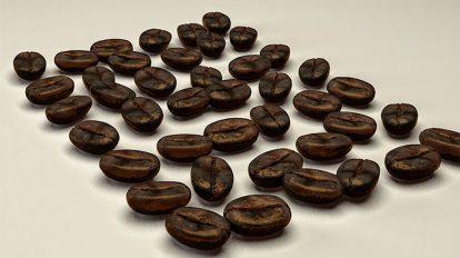 مدل سه بعدی دانه قهوه برای سینما فوردی