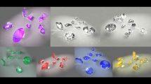 مجموعه مدل سه بعدی واقعگرایانه الماس