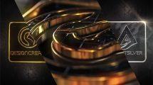 پروژه افترافکت نمایش لوگو با الماس نقرهای و طلایی