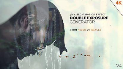 پروژه افترافکت ساخت افکت دابل اکسپوژر Double Exposure Generator
