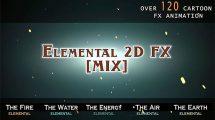 پروژه افترافکت 120 انیمیشن افکت کارتونی Elemental 2D FX Mix